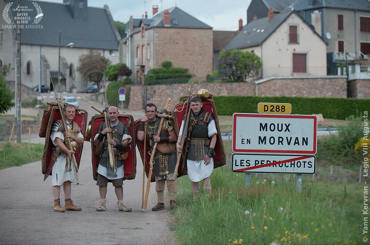 arrivée à Moux en Morvan