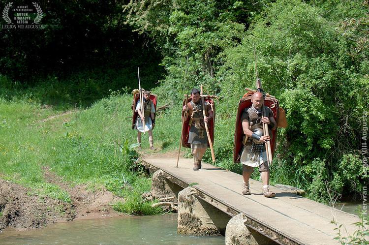passage du ruisseau pour les légionnaires