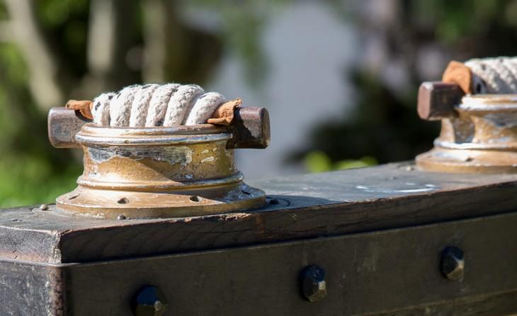 Détail des cordages sur le tablier