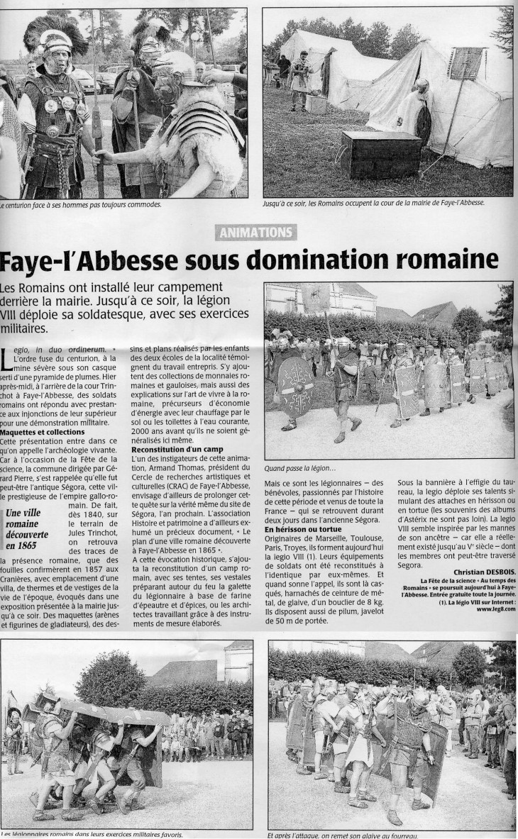 Faye l'Abbesse sous domination romaine