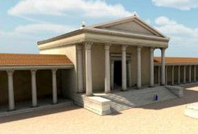 Sanctuaire, reconstitution 3D
