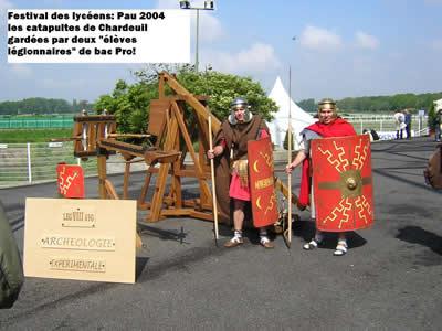 Elèves du LP de Chardeuil, au festival des lycéens en 2004 à Pau