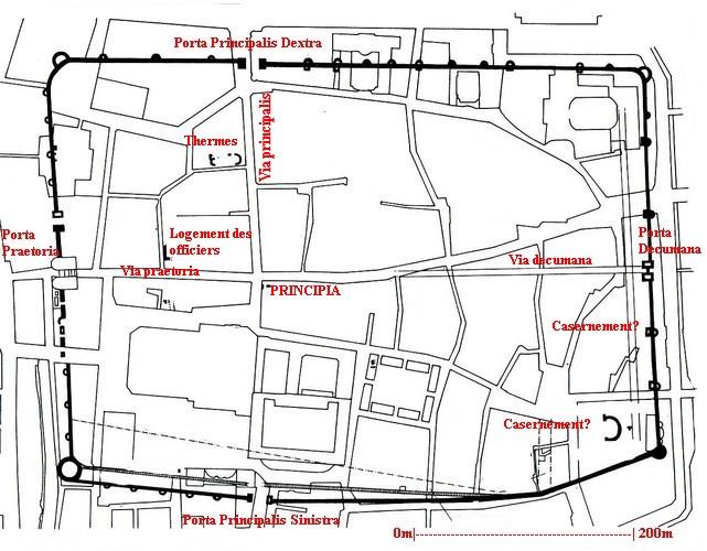 Plan du camp de la VIII Augusta à Argentorate