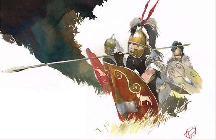 Les légionnaires de Caius Julius Caesar : Tarek et Vincent Pompetti, la guerre des gaules, tome I, Ed. Tartamundo.