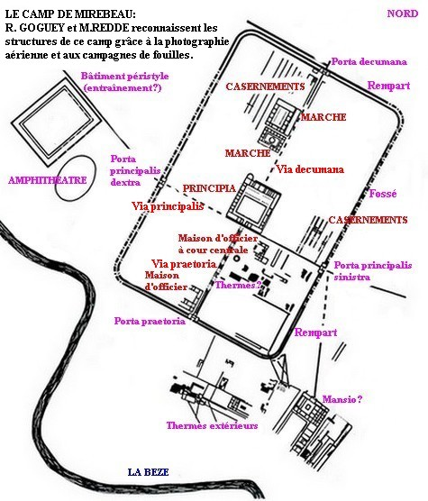 Plan du camp Mirebeau-sur-Bèze