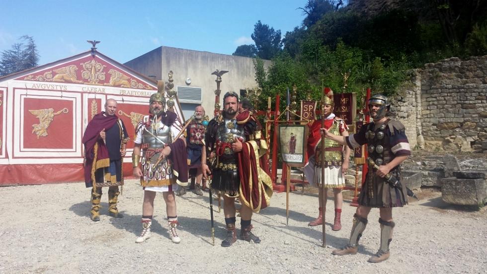 L'empereur Hadrien et sa garde