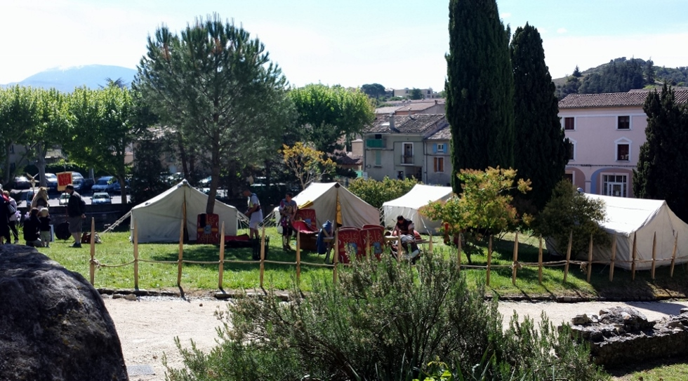 Le camp à Vaison-la-Romaine