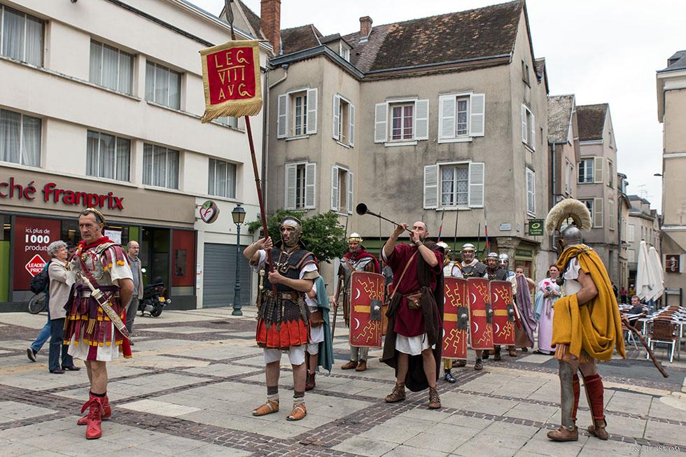 Début de la parade romaine