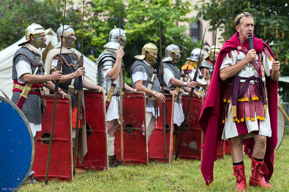 Présentations des légionnaires romains