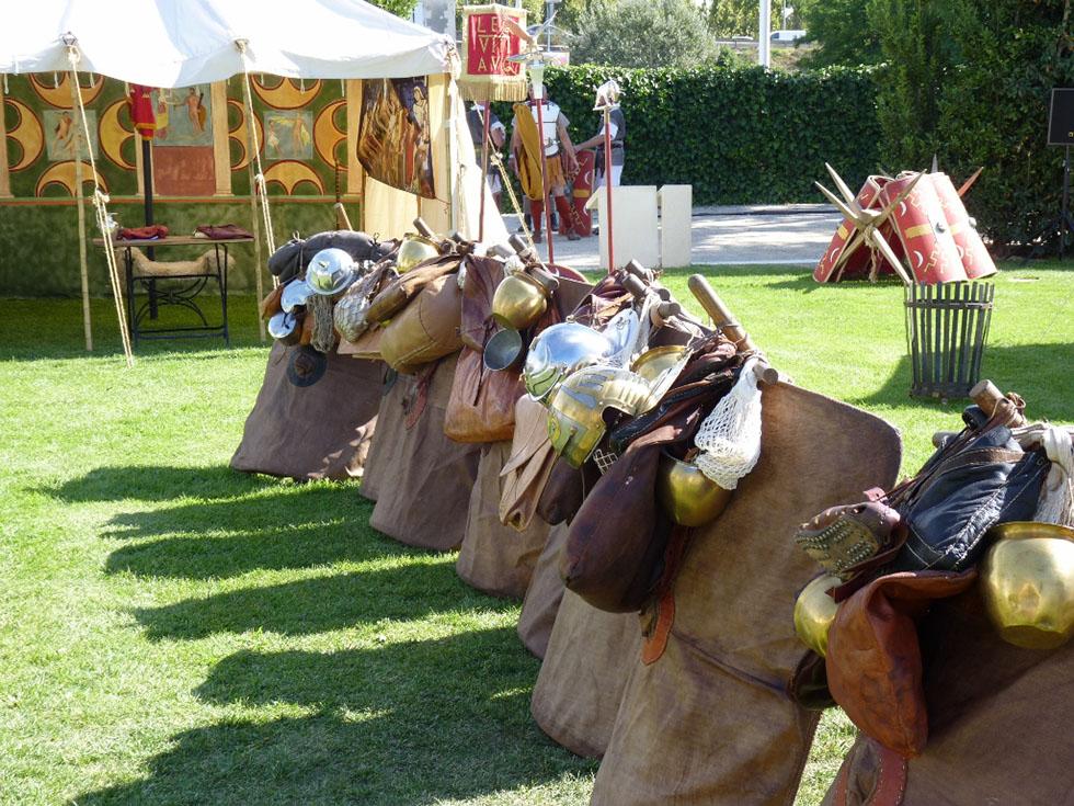 Paquetages de légionnaire romain