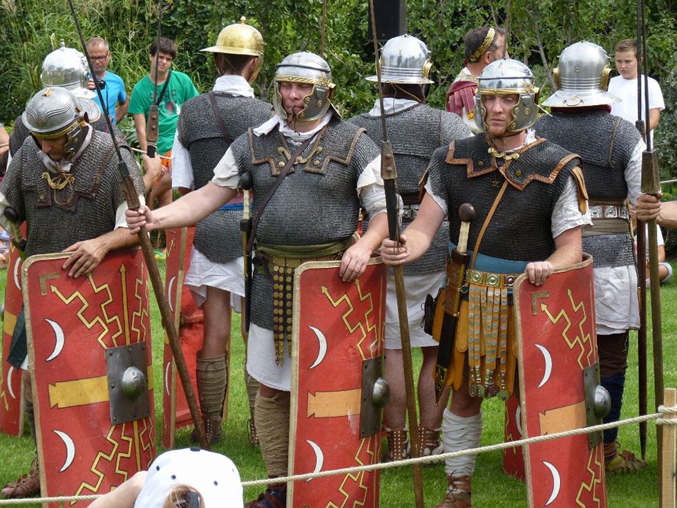 Légionnaires en position