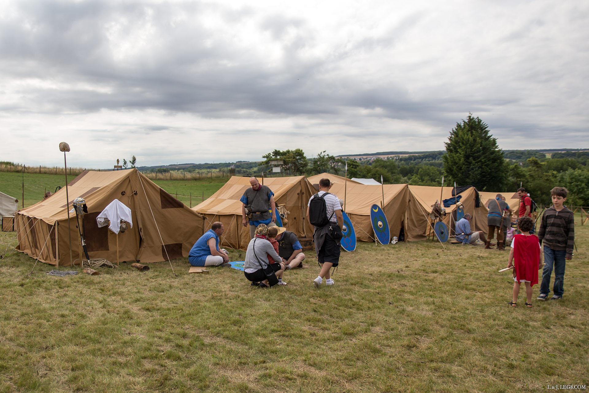 Campement des soldats auxiliaires
