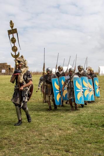 Déplacement d'un petit détachement de l'armée romaine