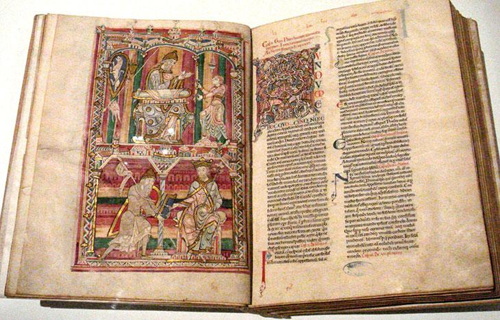 Histoire Naturelle de Pline. Copie du Moyen Âge