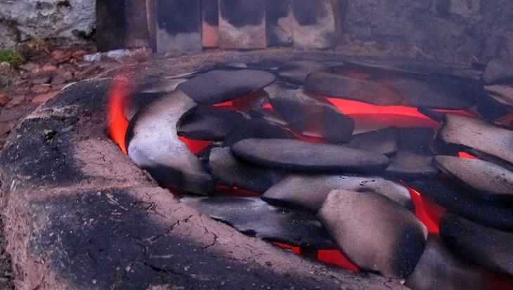 Four de potier, encore brûlant