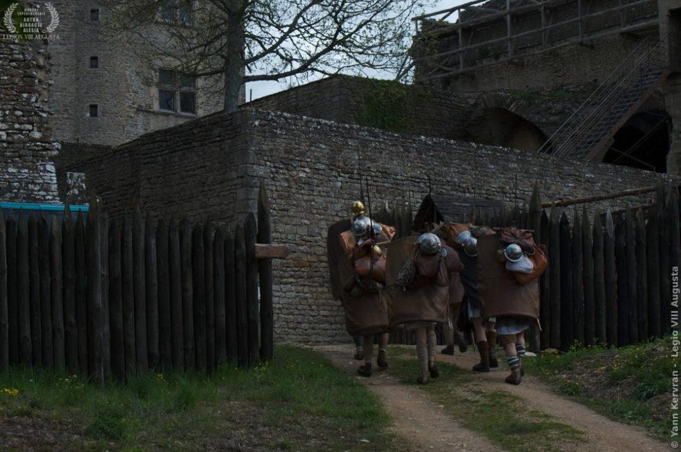 l'arrivée au château de Thil