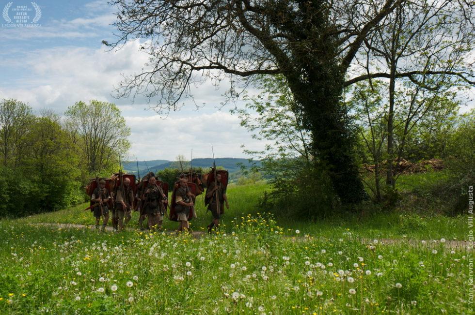 la montée de l'oppidum d'Alésia