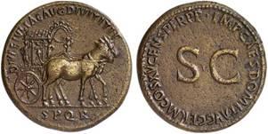 Sesterce de Bronze, Rome, vers 90-91 (Domitien)