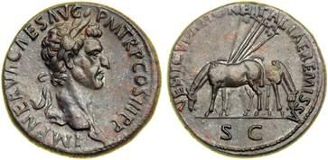 Sesterce de Bronze, Rome, vers 97(Nerva)