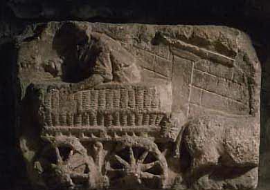 Chariot en osier - musée de Dijon