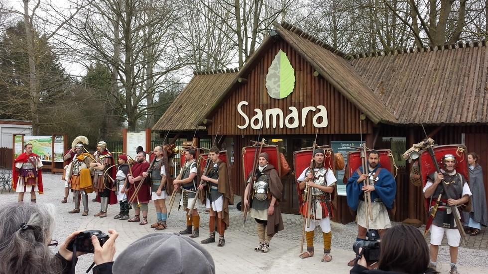arrivée au Parc Archéologique de Samara