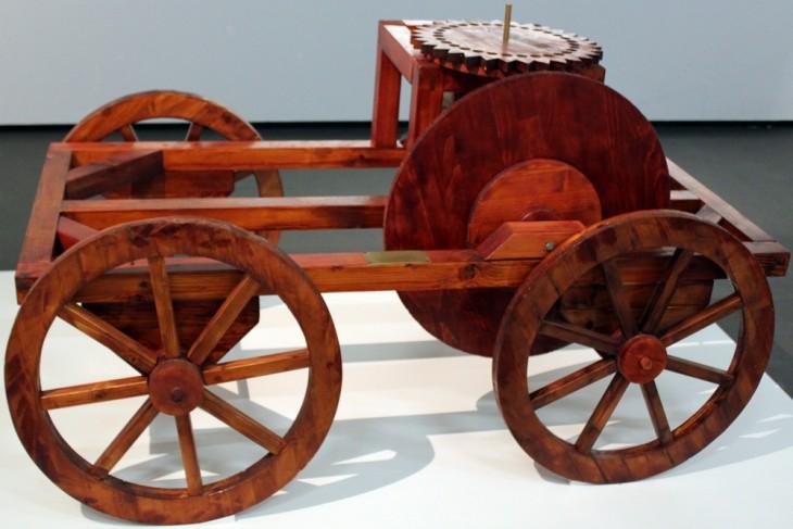 Réplique d'un chariot de mesure romain (odomètre) - Musée de Pergame