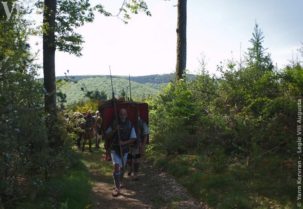 dans la forêt Morvandelle après de le départ de Bibracte