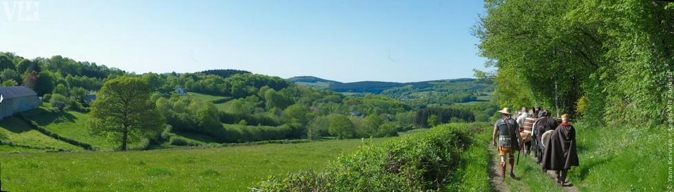 panorama du Morvan proche de l'arrivée aux Bardiaux