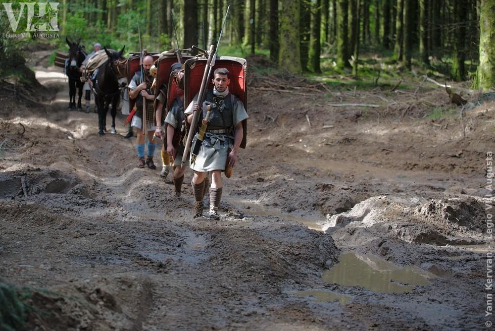 partie du chemin défoncé par engins forestiers