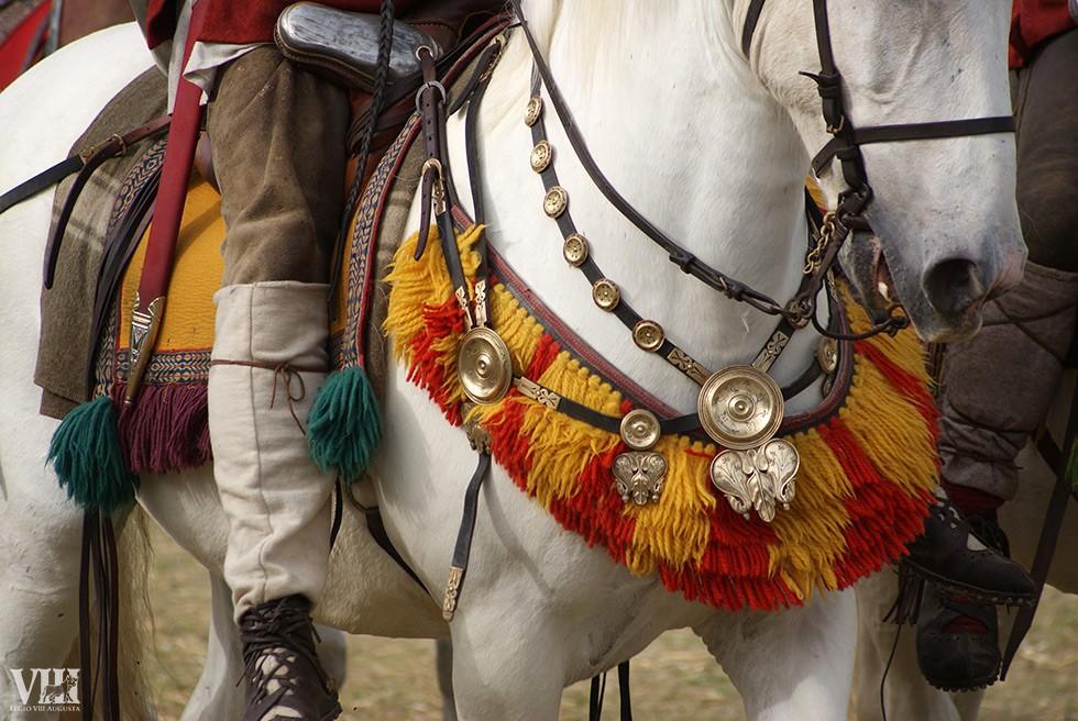 Harnachement d'un cheval de la légion romaine.