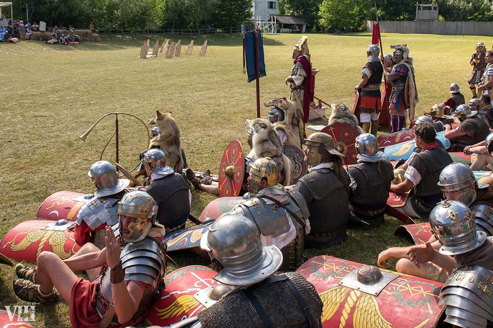 Repos pour les légions de Rome.