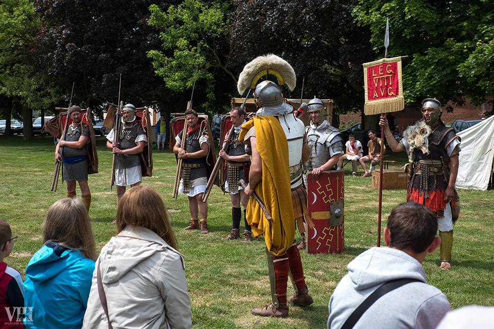 Présentation du légionnaire romain.