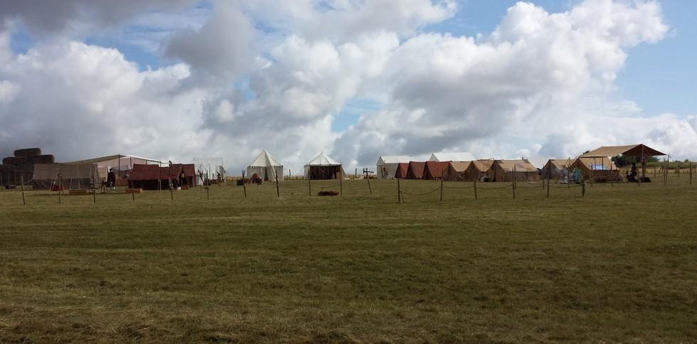 le camp des legions au matin