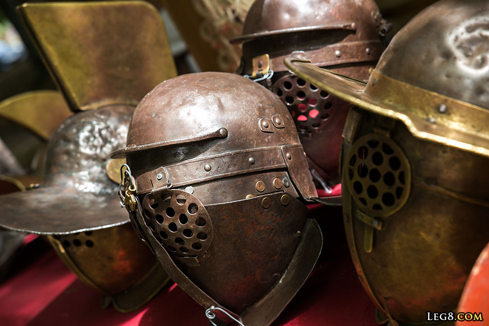 Casques de gladiateurs
