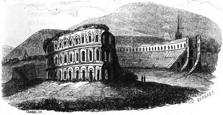 Amphithéâtre d'Autun - Mémoires de la société éduenne 1848