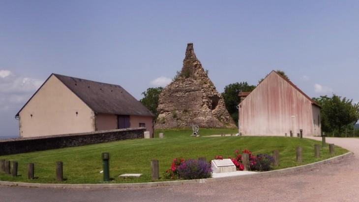 la ferme de Couhard qui servie de quartier général au général Garibaldi au pied du cénotaphe romain.
