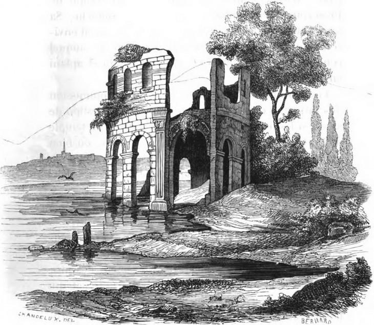 Temple de Proserpine - Mémoires de la société éduenne 1848