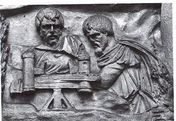 Ce bas relief exposé au musée de la civilisation romaine à Rome corrobore le texte de Dion Cassius puisqu'on y voit deux daces en train d'utiliser une manubaliste romaine