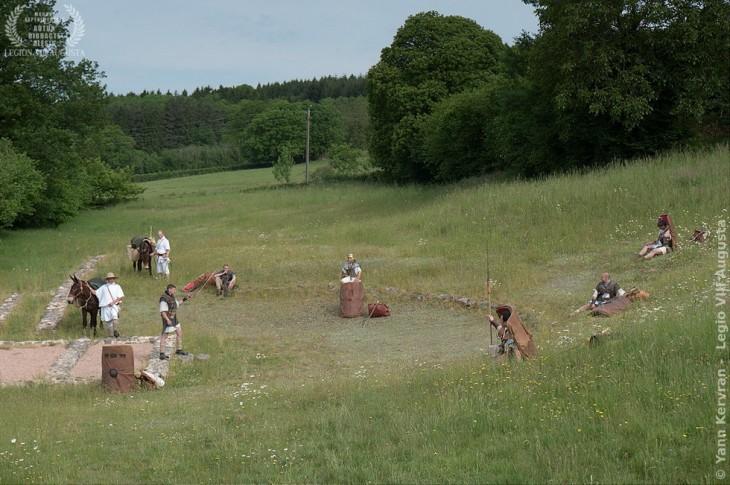 Théâtre antique des Bardiaux, emplacement de la cavea