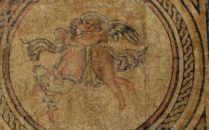 (Mosaïque représentant Eros et Psyché, Alcazar de Cordoue)