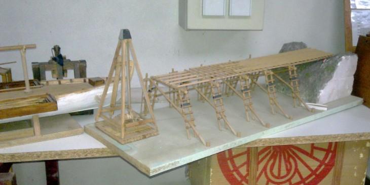 maquette pont sur le rhin