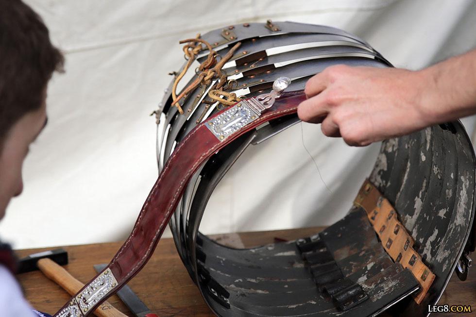 Réparation d'une lorica segmentata