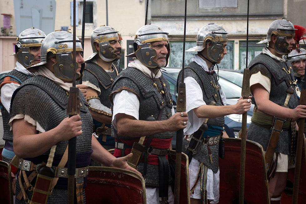 Légionnaires romains à Bram