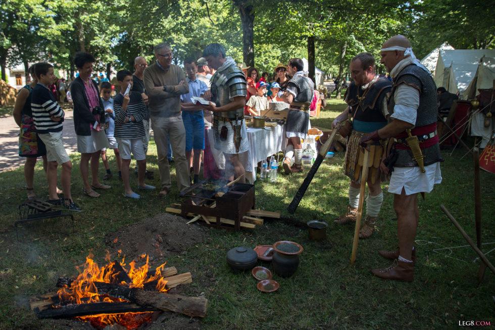 La cuisine sur le camp romain