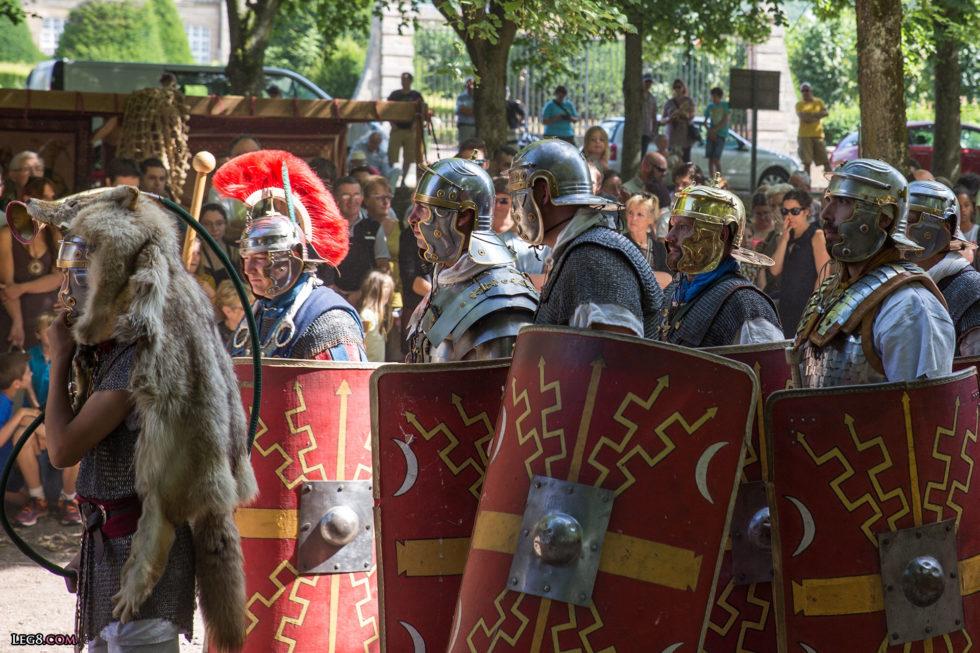 Le cornu transmet les ordres aux soldats